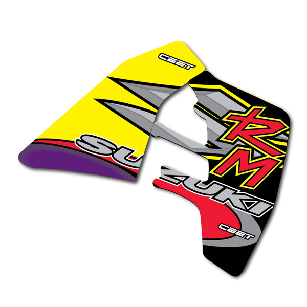 Suzuki RM RMX Chrome/Silver Decal Sets